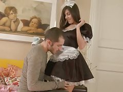 Sexy maid's first time anal