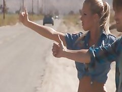Samantha Saint hitchhikes her way to a big dick