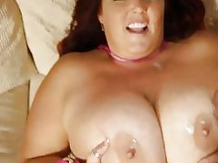 Big babe gets a quenching cumshot