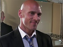 Johnny sins gets his birthday wish two chicks.