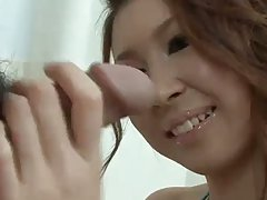 Japanese cutie rika aina gives head