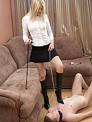 This blonde goddess deserves the best shoe worship and the most cruel high heel trampling