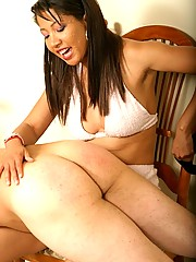 Asian hottie gives her man quite a paddling