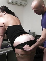 Horny boss fucks BBW applicant