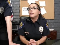 Two Hot and Horny Police Officers Fucking Two Criminal Cocks