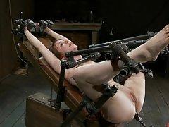 Brunette Gets All Wet In Hot Bondage Scene