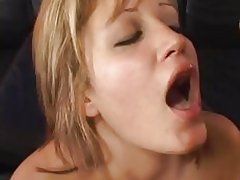 Kimberly Kane gets her face saturated with warm cum