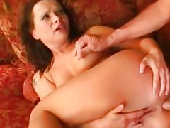 Horny Katja Kassin gets her ass filled with hard cock