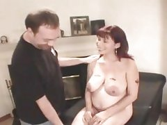 Pregnant wife gets ready for a threeway fuck