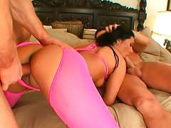Filthy big ass latina dp threesome