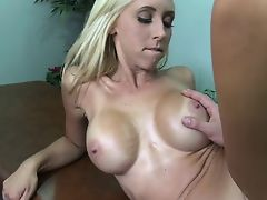 Sweet blonde fucking by masseur