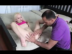 pale blonde girl get fucked with final creampie