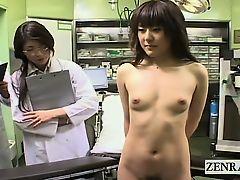 Subtitled CMNF ENF Japanese medical sniffing inspection