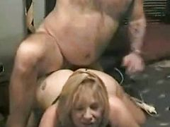 Chubby blonde amateur wife make homemade sex