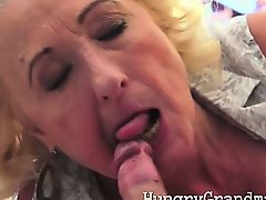 Plump granny fucked by young cock