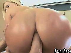 Big tit blonde MILF gets ass fucked