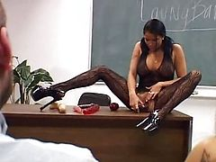Lanny Barby fucked in classroom