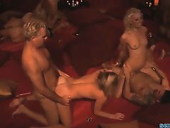 Hot swinger party with hot blondes