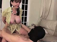 Tied up Lady Sonia milf cumshot