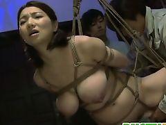 Horny Mio Takahashi enjoys hardcore bondage