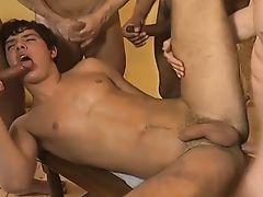 a fiveman orgy